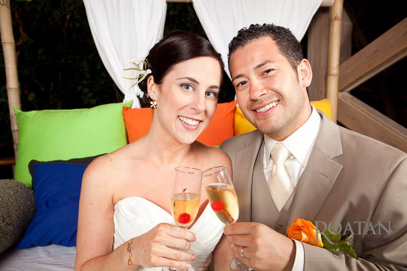 wedding couple toast champagne