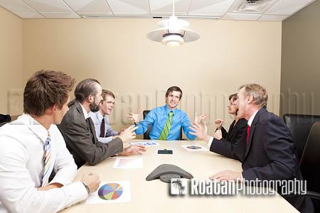 Boardroom business meeting