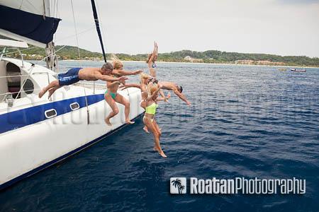 Tropical fun on catamaran