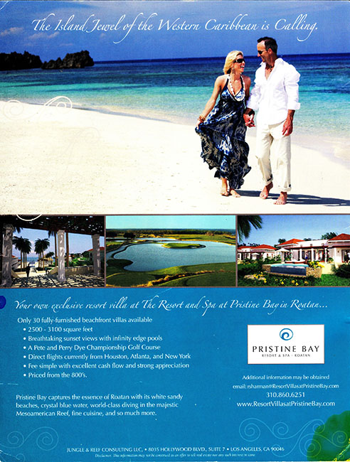 Pristine Bay golf course continental magazine advertisement