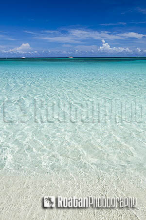 Clear Caribbean Sea at west bay beach stock photo