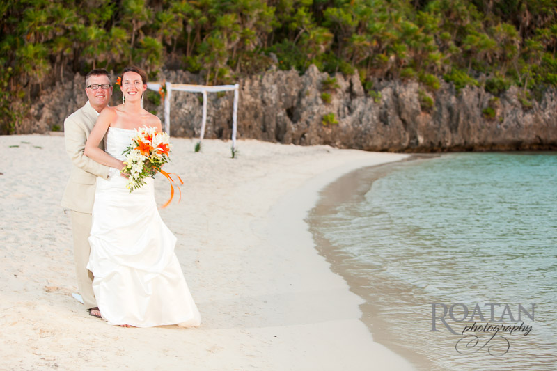Sunset wedding at Infinity Bay